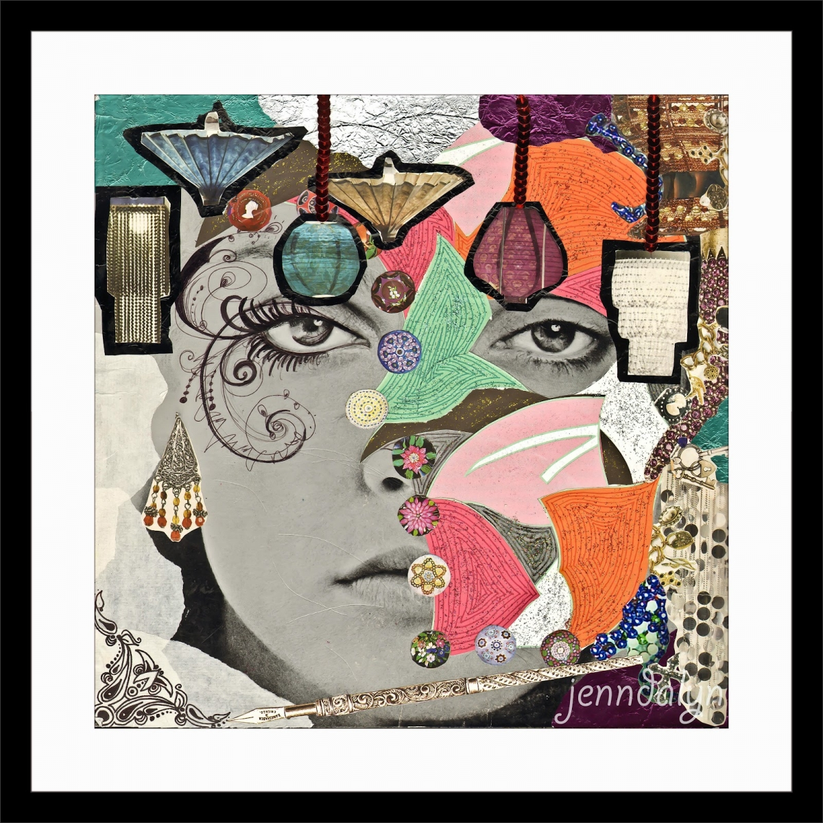 mixed media collage art jenndalyn