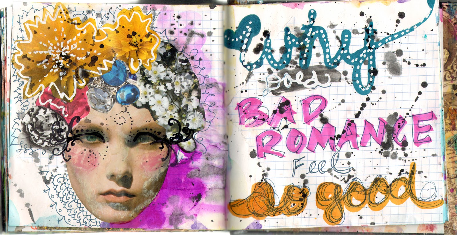 collage art journal pages