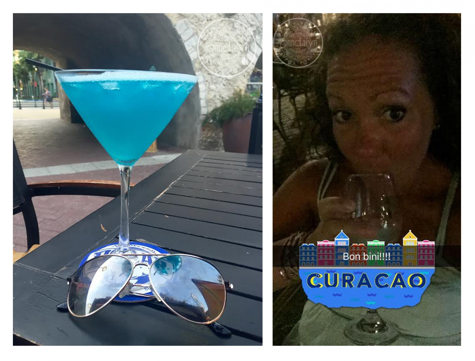 blue curacao martini snapchat filter