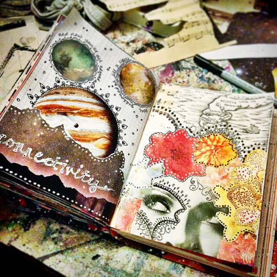 mixed media art journal pges