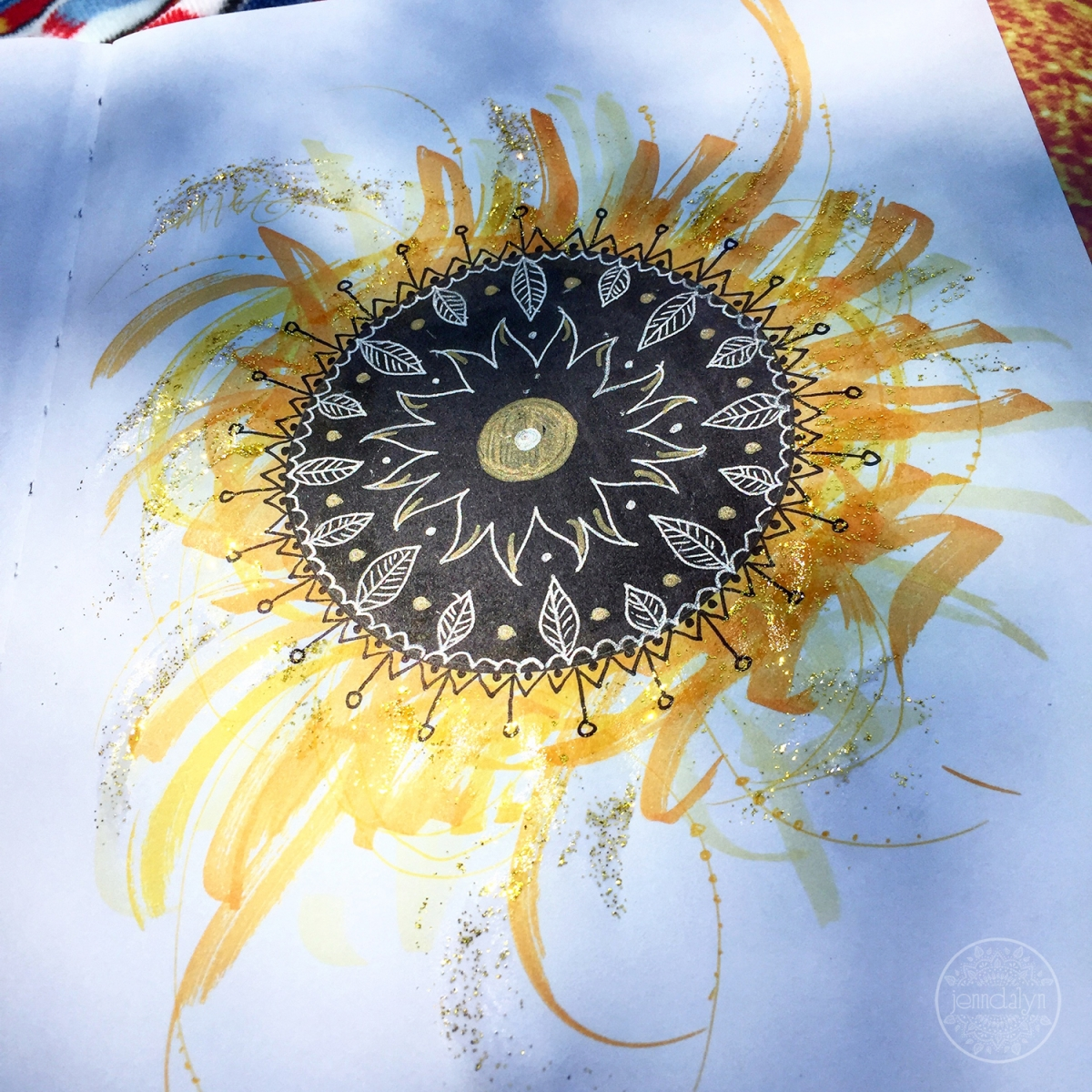 solar eclipse art sketchbook