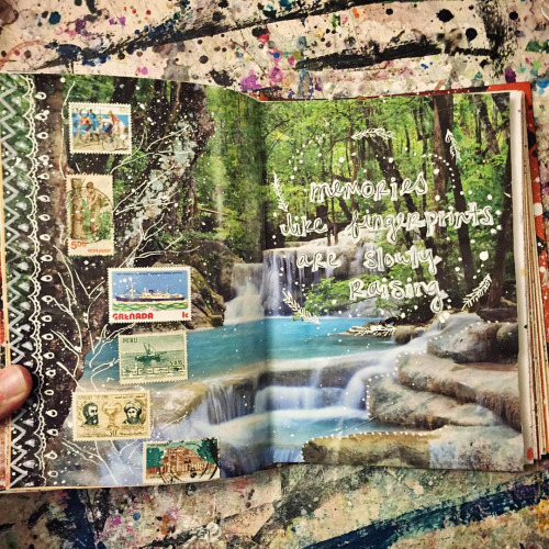 art journal pages mixed media collage art