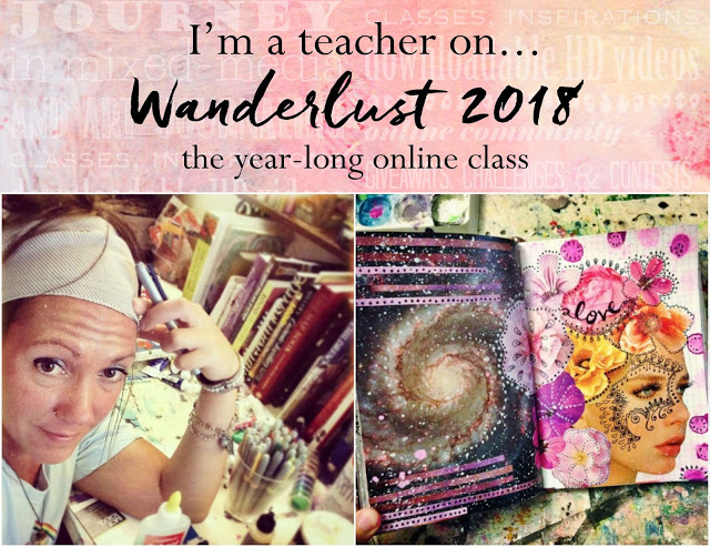 wanderlust 2018 mixed media class